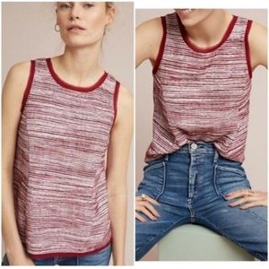 Vanessa Virginia Red & White Striped Tank Top